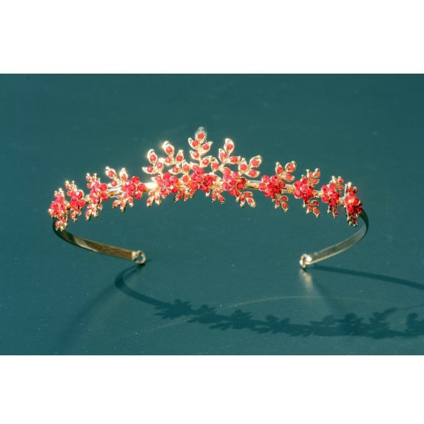 Set tiara, colier si cercei Red Passion 1