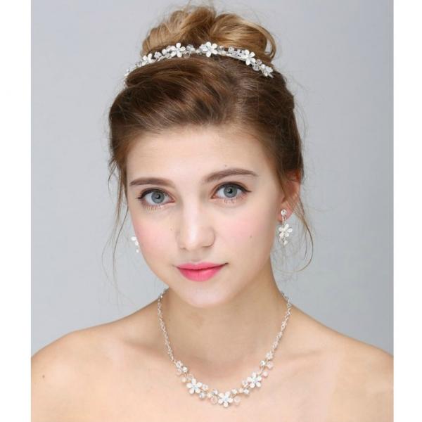 Set tiara, colier si cercei Romance 0