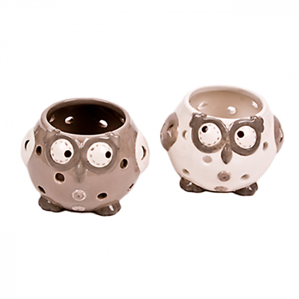 Suport ceramic lumanare  Owl 0