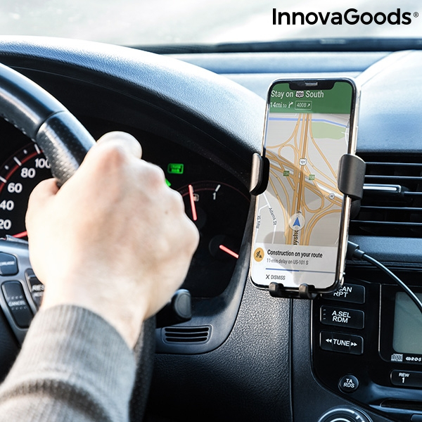 Suport telefon mobil cu incarcator fara fir pentru masina 0