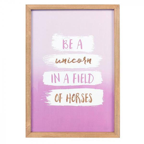 Tablou motivational Be a Unicorn 0