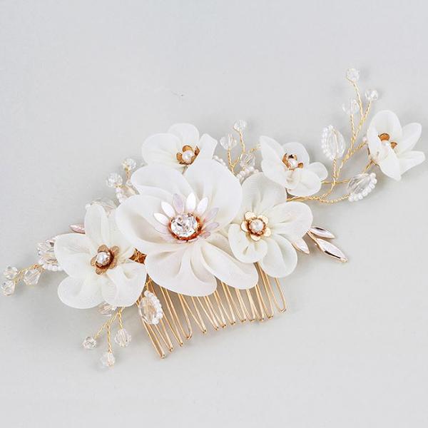 Tiara Agrafa Delicate Flower 2