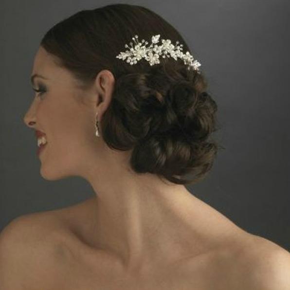 Tiara Agrafa Flower Pearl 3