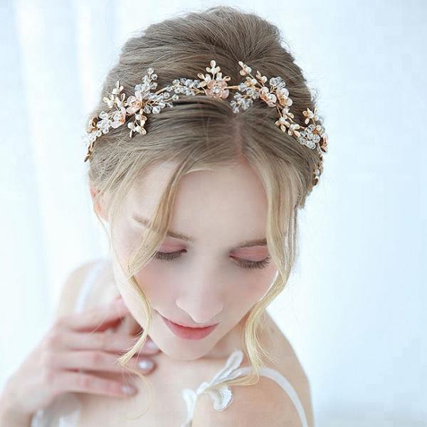 Tiara Delicate Crystals&Pearls 3
