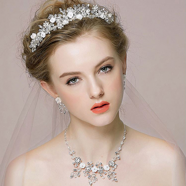 Tiara Flower Crown Silver 0