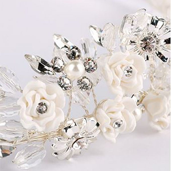 Tiara Flower Crown Silver 1