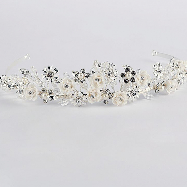 Tiara Flower Crown Silver 2