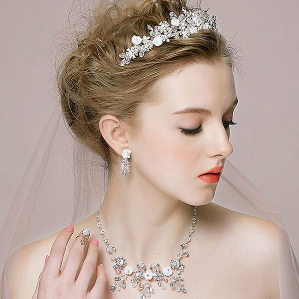 Tiara Flower Crown Silver 4