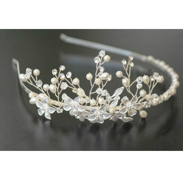 Tiara Flowers Bride 0