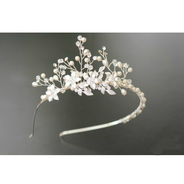Tiara Flowers Bride 2