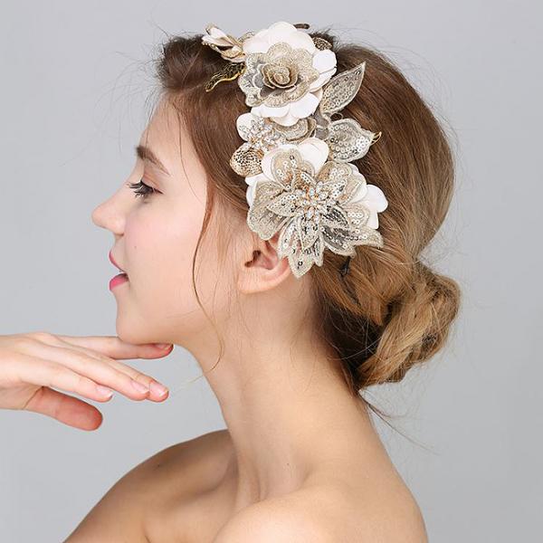 Tiara Gold Flowers&Leaves 1