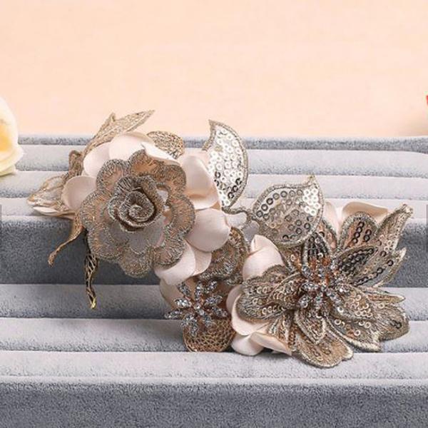 Tiara Gold Flowers&Leaves 2