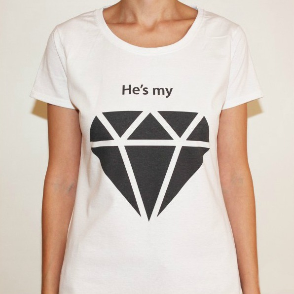 Tricou He's my diamond 0