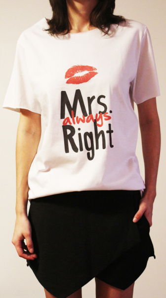 Tricou Mrs Always Right 0