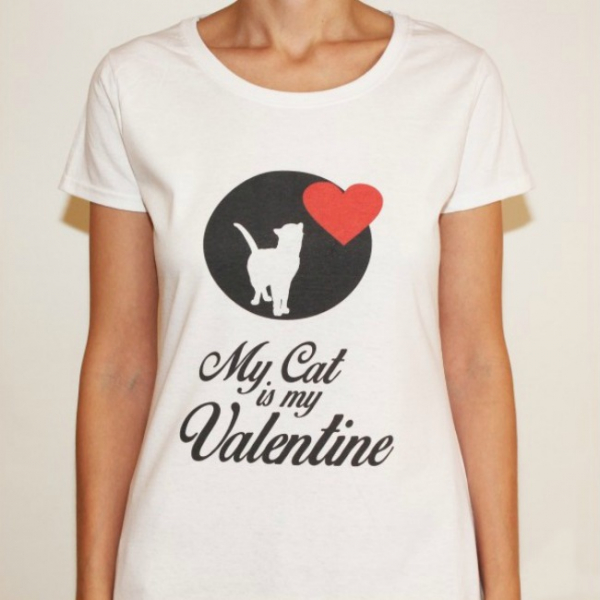 Tricou My cat is my Valentine 0