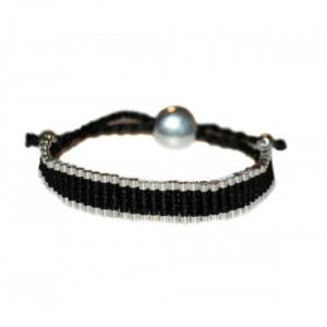 Bratara Black & Silver1
