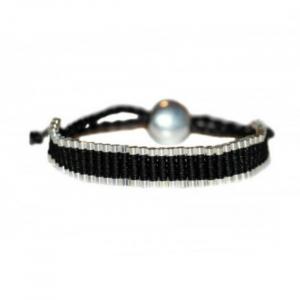 Bratara Black & Silver0