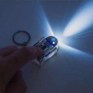Breloc cu functii lanterna si sunet R2 D20