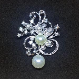 Brosa Flower&Pearls0