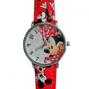 Ceas pentru copii Minnie Red1