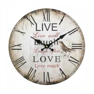 Ceas perete Live, laugh, love0