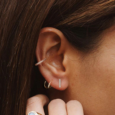 Cercel argint placat cu aur Ear Cuff [2]
