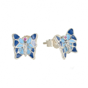 Cercei Butterfly Blue argint0