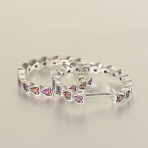 Cercei Hearts argint1