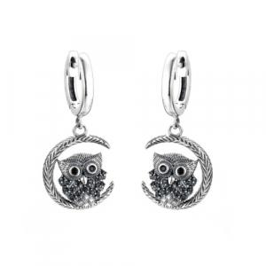 Cercei Owl argint0