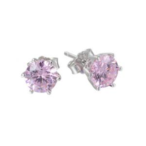 Cercei Rose Crystal  argint0
