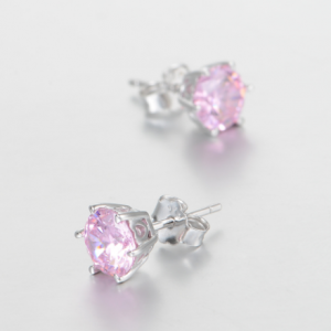 Cercei Rose Crystal  argint2
