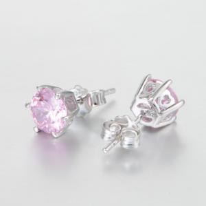 Cercei Rose Crystal  argint1