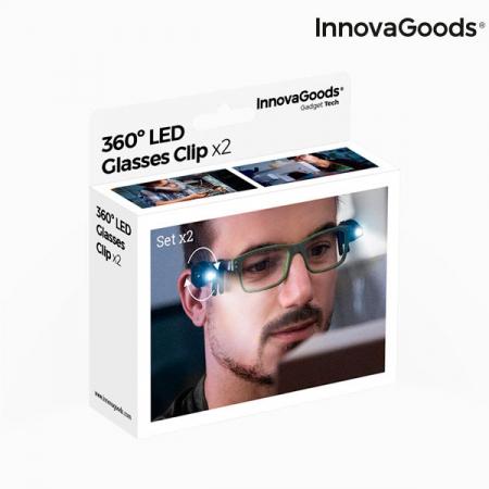 Clips cu LED 360 pentru ochelari - set 2 buc6