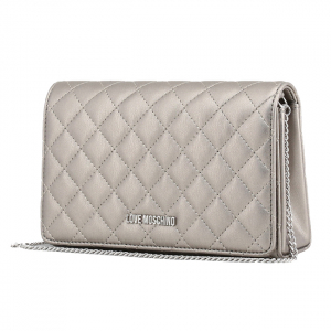 Clutch Love Moschino Silver1