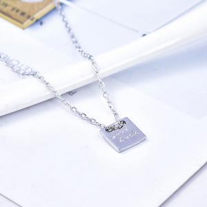 Colier argint rodiat Good Luck [3]