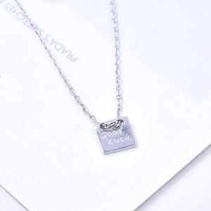 Colier argint rodiat Good Luck [4]