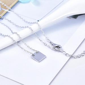 Colier argint rodiat Good Luck [2]