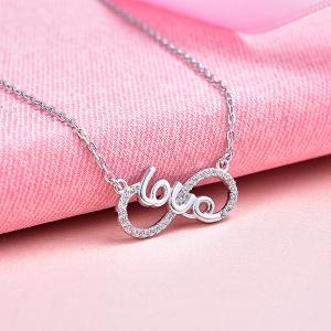 Colier argint rodiat  Infinit Love3