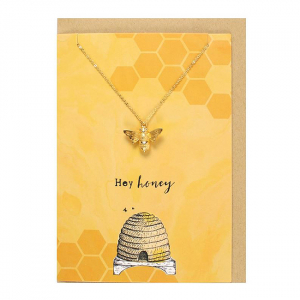 Colier cu felicitare Hey Honey1