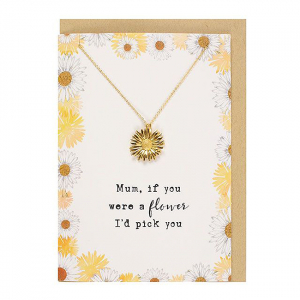 Colier cu felicitare Mum flower0
