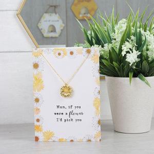 Colier cu felicitare Mum flower2