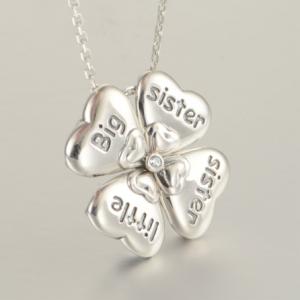 Colier din argint Sisters Love0