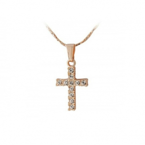 Colier Gold Cross0