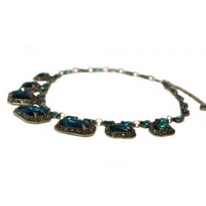 Colier statement Elegant Blue Sapphire3