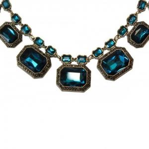 Colier statement Elegant Blue Sapphire1