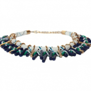 Colier statement Turquoise Navy2