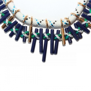 Colier statement Turquoise Navy3