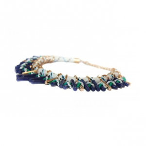 Colier statement Turquoise Navy1