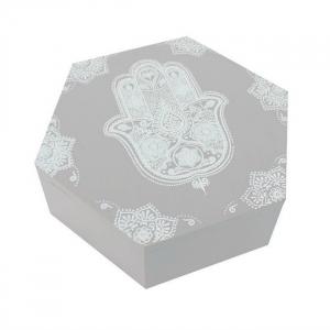 Cutie hexagonala din lemn Hamsa0