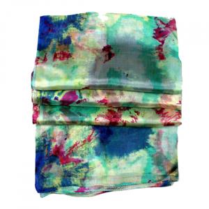 Esarfa din matase Abstract Flowers3
